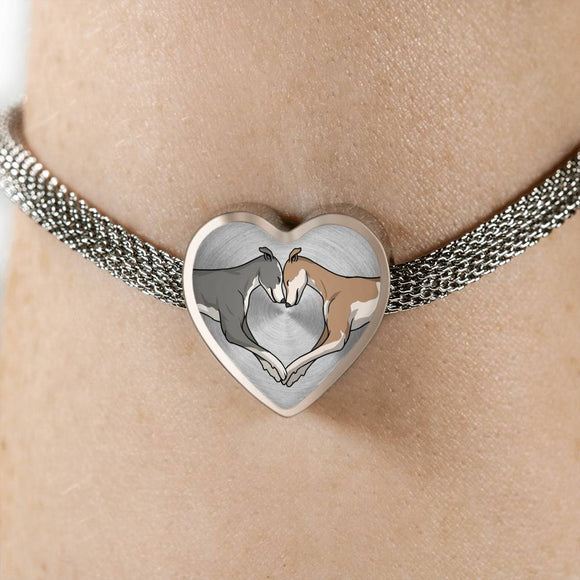 Luxury Greyhound Love Heart Bracelet - Grey Lives Matter Shop