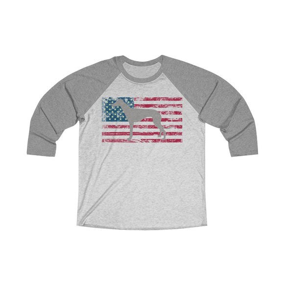 American Greyhound Baseball T-Shirt (Unisex) - Grey Lives Matter Shop