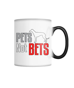 Pets Not Bets Standing Greyhound Color Changing Mug - Grey Lives Matter Shop