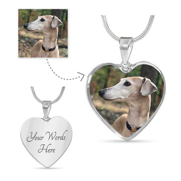 Personalized necklace with Photo, Pet photo necklace - Grey Lives Matter Shop