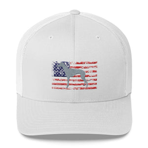 American Greyhound Custom Embroidered Trucker Cap - Grey Lives Matter Shop