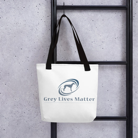Grey Lives Matter Tote bag - Promote Greyhound Rescue And Adoption