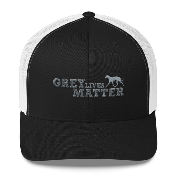 Grey Lives Matter Custom Embroidered Trucker Cap - Grey Lives Matter Shop