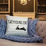 Greyhound Zone Throw Pillow - Grey Lives Matter Shop