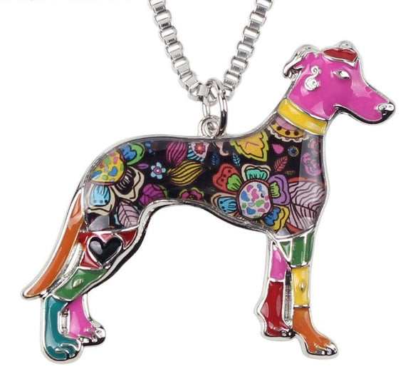 Funky Greyhound multi-colored necklace - Grey Lives Matter Shop