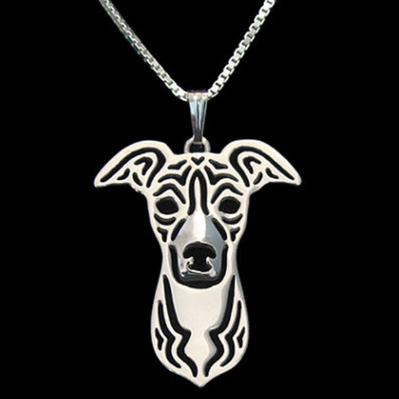 Italian Greyhound Dog Pendant Necklace Charm beautiful in silver or gold necklace - Grey Lives Matter Shop