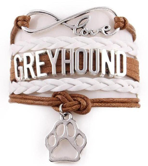 Infinity Love Dog Paw Greyhound Bracelet - Grey Lives Matter Shop