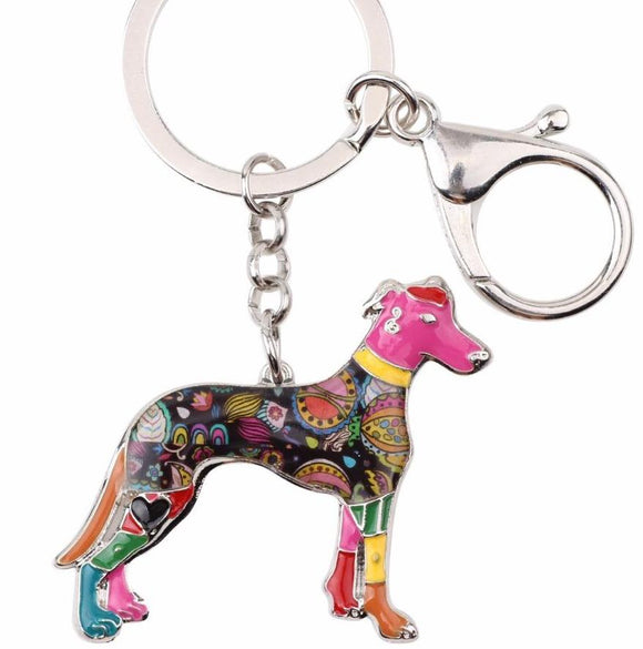 Greyhound Enamel Key Ring - Grey Lives Matter Shop