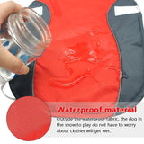 Warm, Water Resistant Fleece Lined Dog Vest, Jacket, Reflective Dog Coat For Winter - Grey Lives Matter Shop