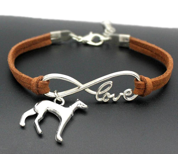 Infinity Love Greyhound Charm Bracelet - Grey Lives Matter Shop