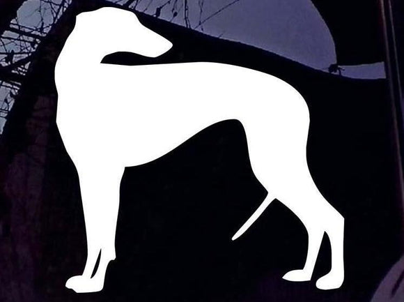 Greyhound Silhouette Car Sticker - Vinyl Adhesive Auto Stickers - 13*13CM - Grey Lives Matter Shop
