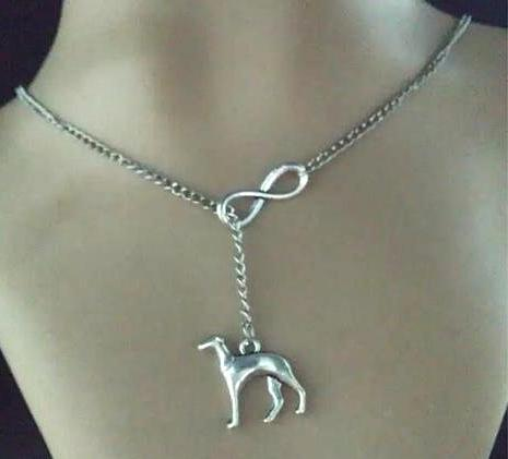 Infinity Greyhound Dog Fashion Vintage Silver Necklace - Grey Lives Matter Shop