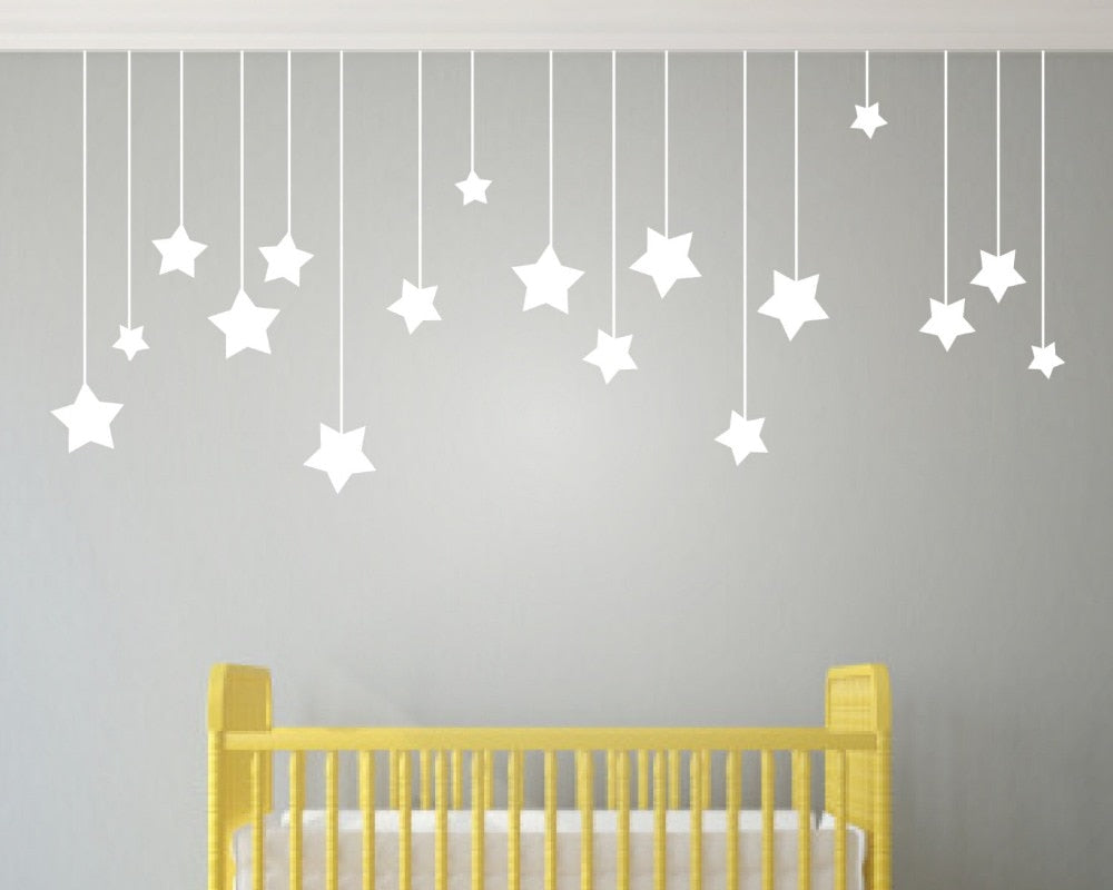 Little Hanging Stars Wall Decal (2 colors)