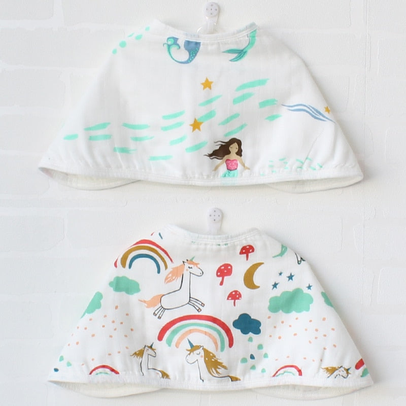 Mermaids & Unicorns Bib & Burp Cloth (Set of 2)