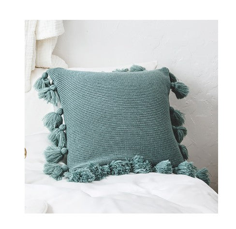 Tassels Knit Pillow Cover (3 Colors)