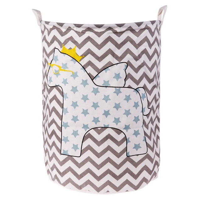 Chevron Starred Horse Storage Bin