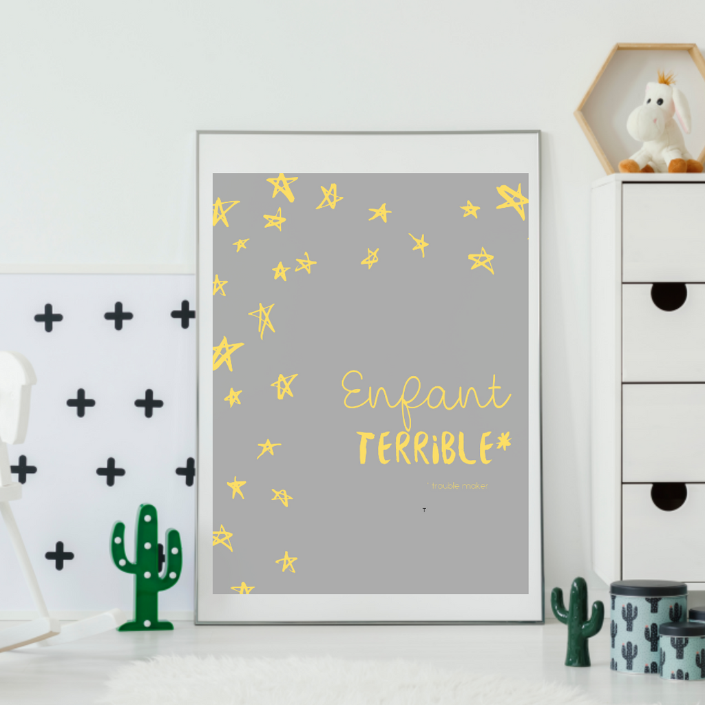"""Enfant Terrible"" Wall Art - Various sizes"