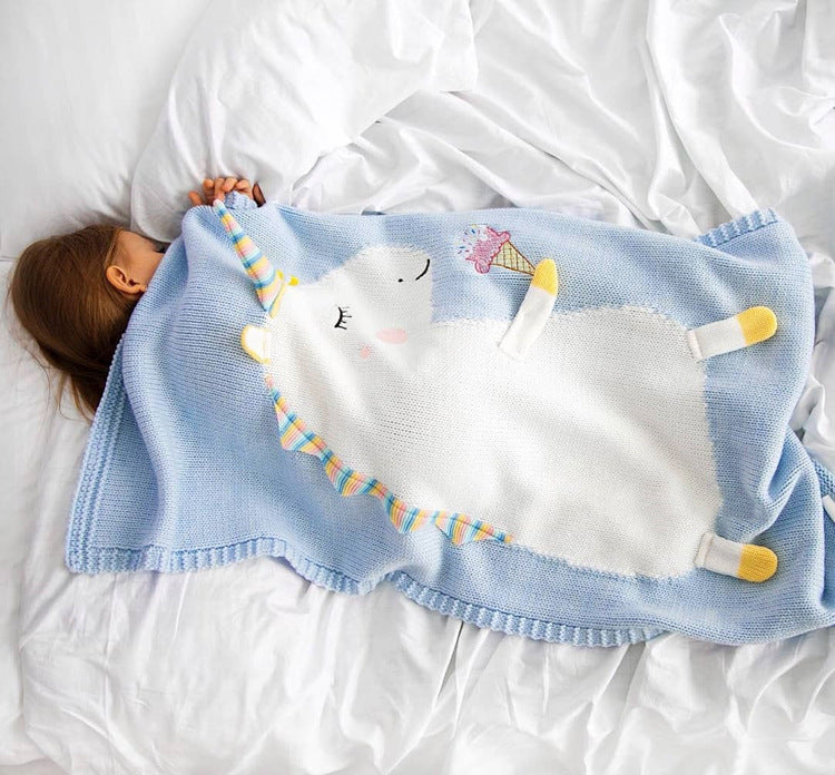 Unicorn Knit Blanket (2 Colors)