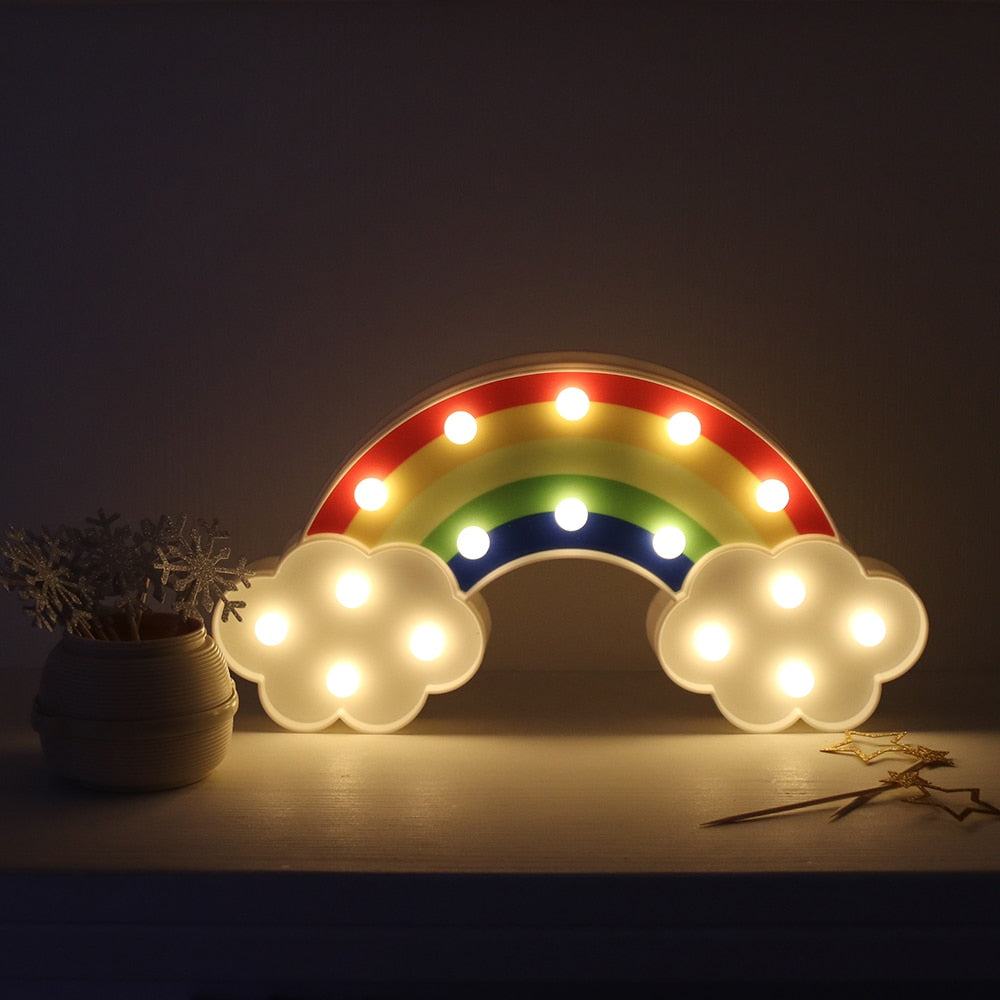 Rainbow & Clouds Night Light