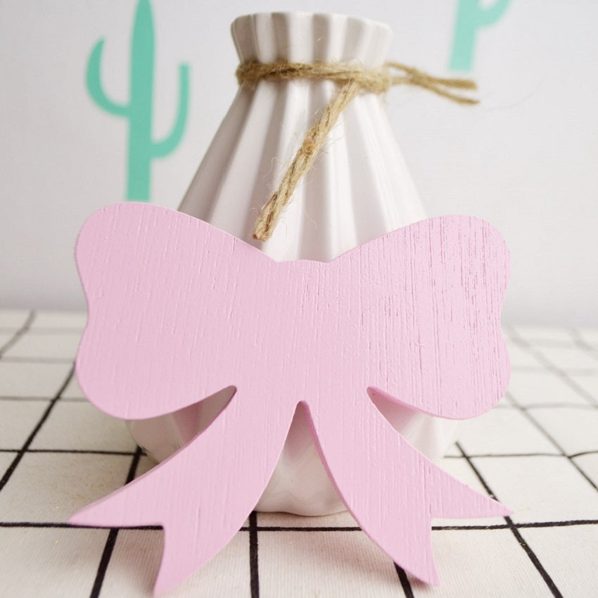 Pink Wood Bow wall hook room decor accessory clothing