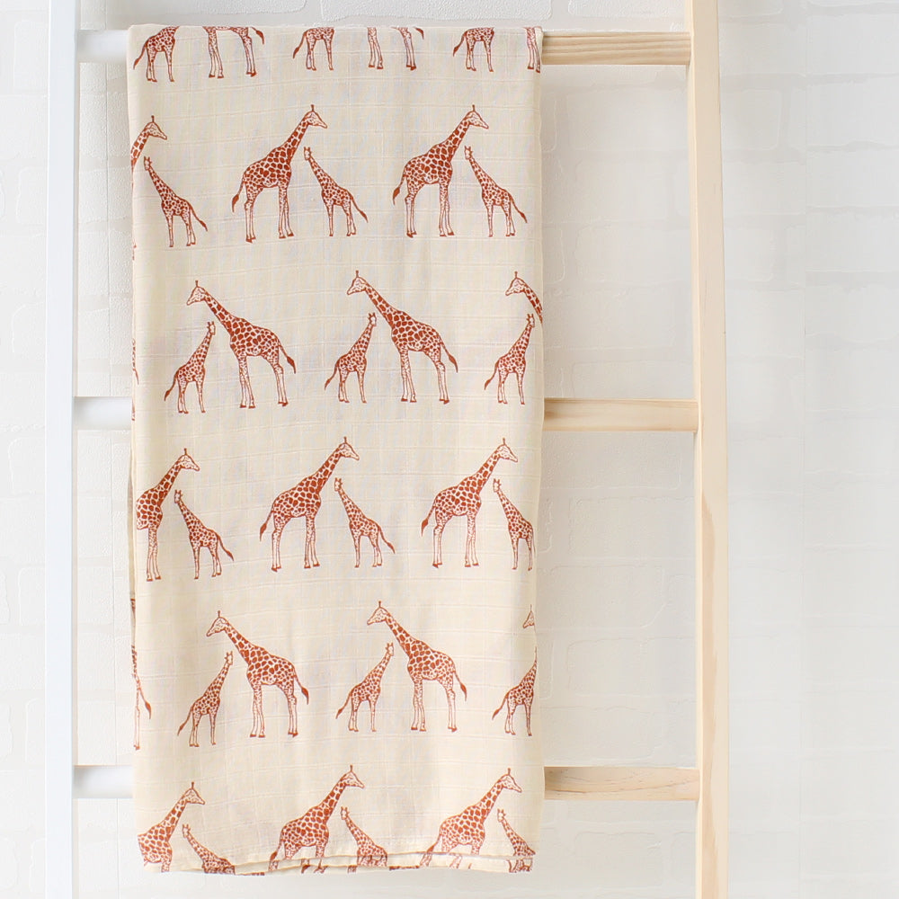 Modern Tribal Giraffe Print Baby swaddle blanket nursing cover floor blanket