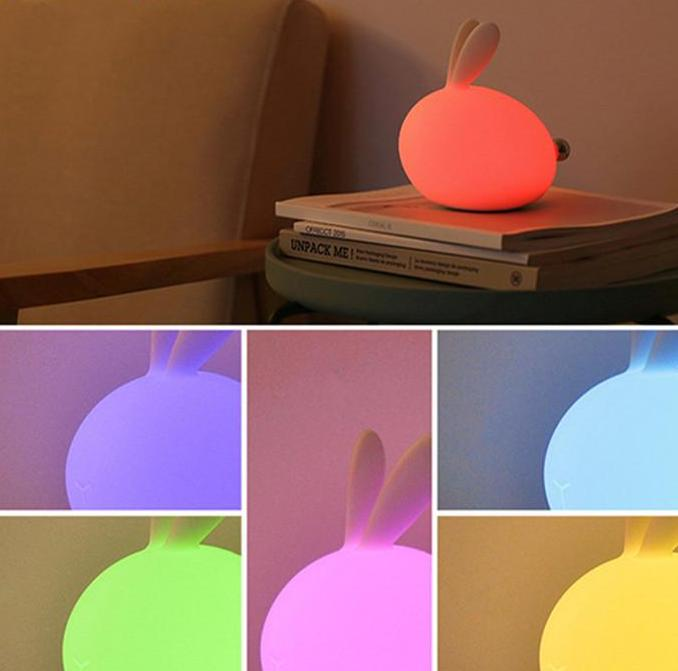Mini Bunny Multi Color Night Light