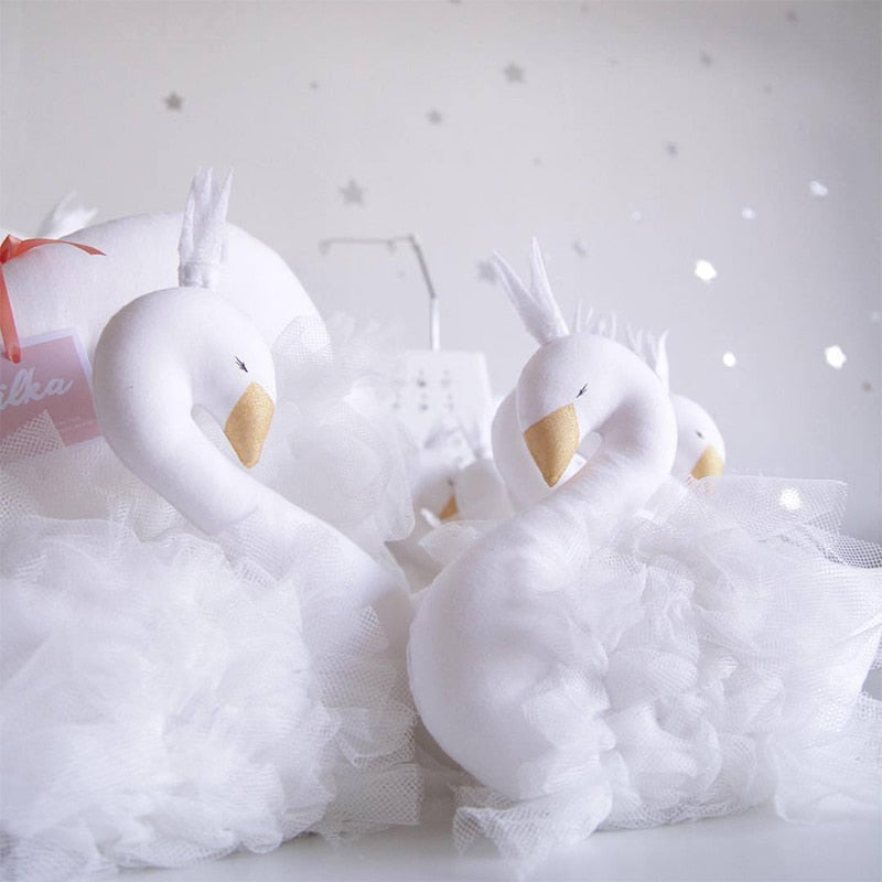 White Swan Plush Doll