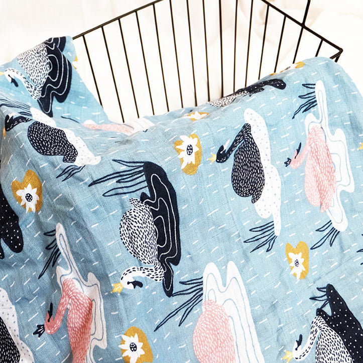 Swan Lake  Baby Swaddle Blanket