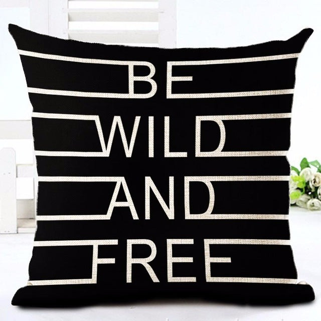 Be Wild and Free Pillow Cover