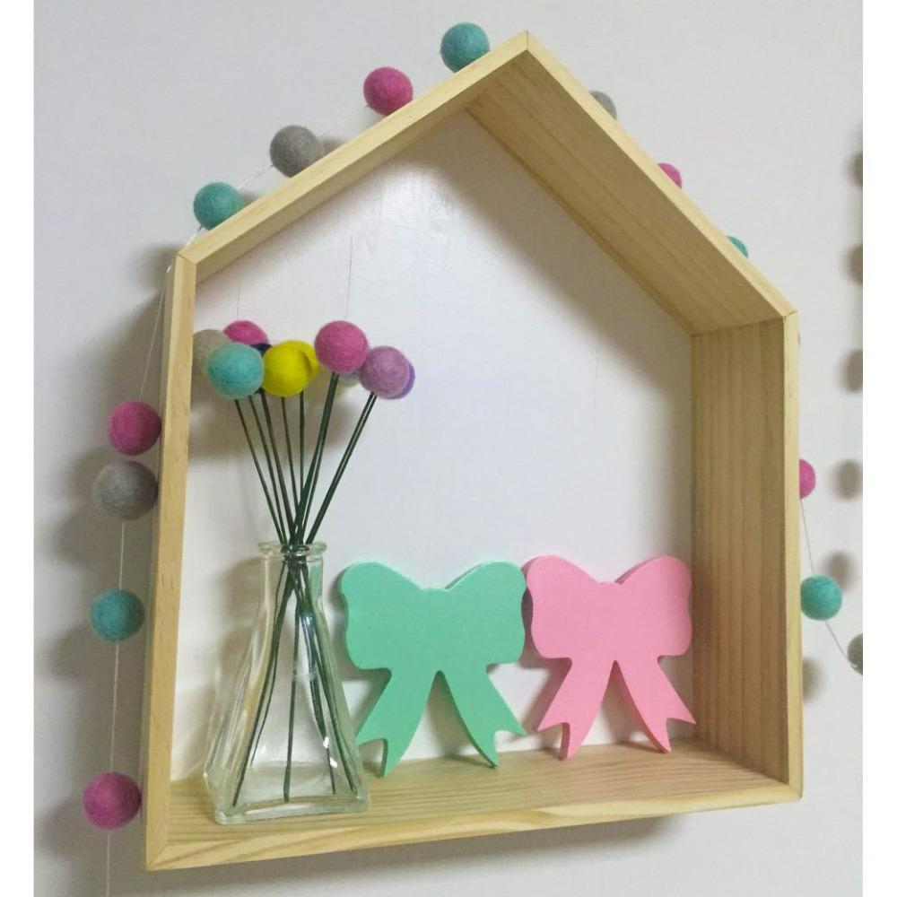 Pink and Green Wood Bow wall hook room decor accessory clothing