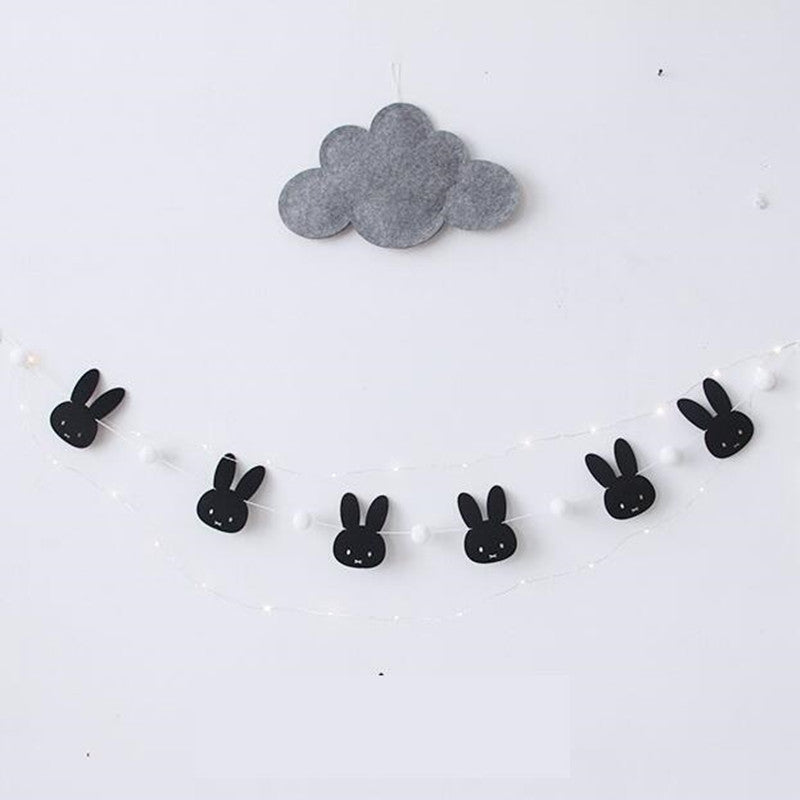 Felt Bunny Wall Garland Decor