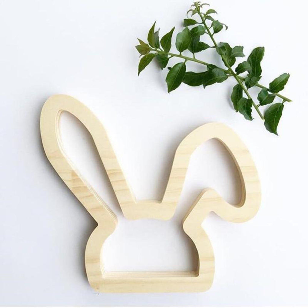 Wood Bunny ears wall sticker for baby and child room wall decor