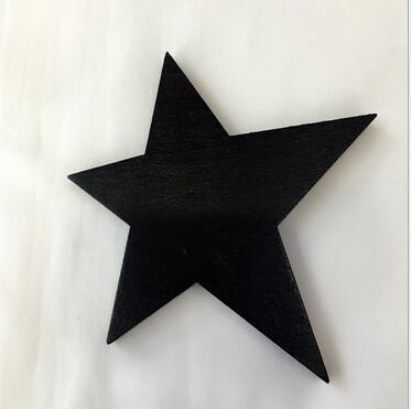 Black Star wood wall hook room decor accessory clothing toys