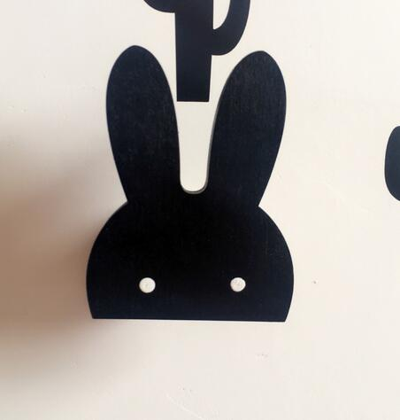 Bunny Wood Wall Hook (2 Colors)