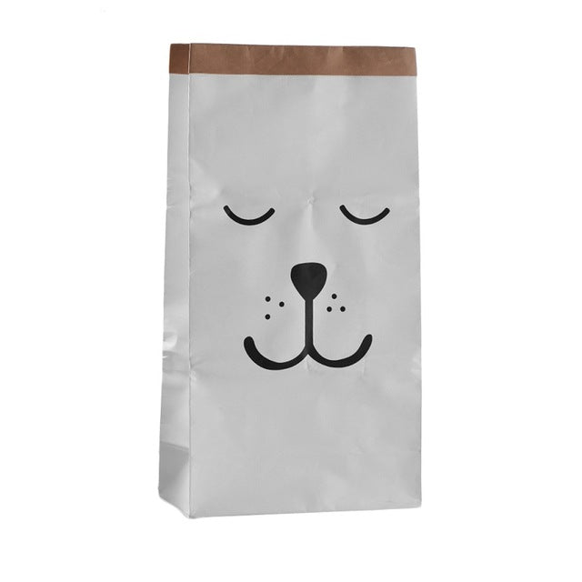 Sleepy Bear Paper Storage Bag