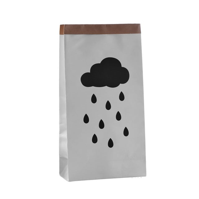 Rainy Cloud Paper Storage Bag