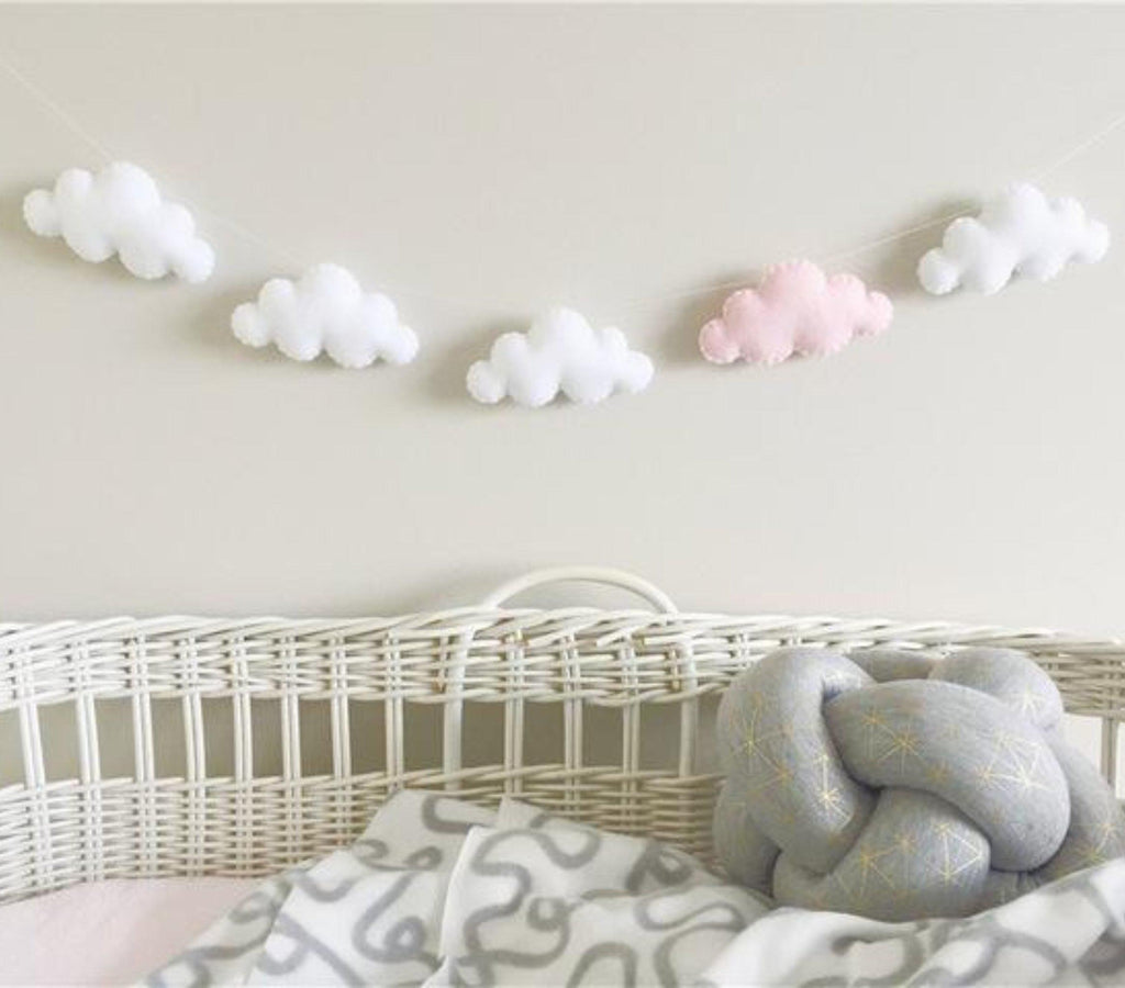 """Head in the Clouds"" Felt Garland (5 Colors)"