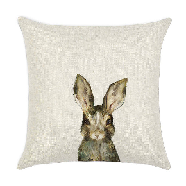 Whimsical Bunny Cushion Cover