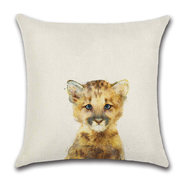 Lion Cub Drawing Pillow Cover