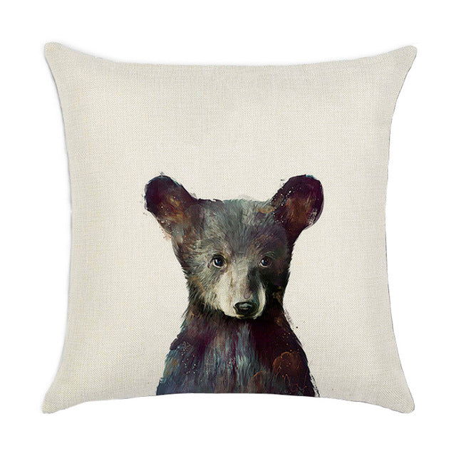 Bear Cub Pillow Cover
