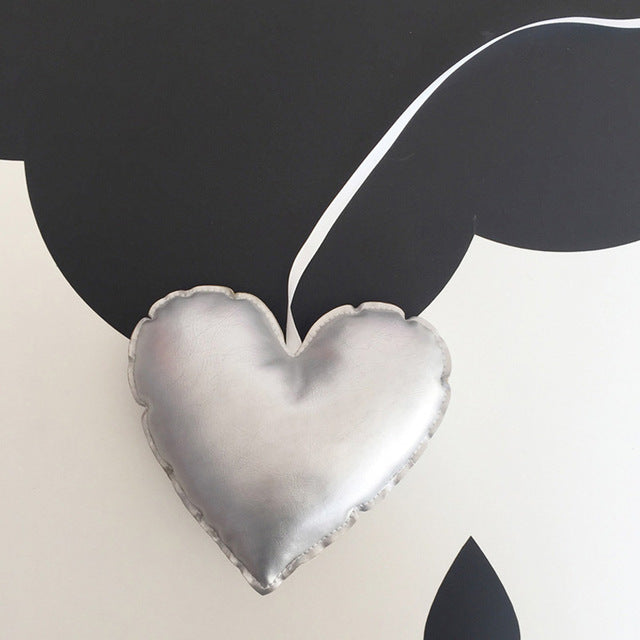 """Leather"" Heart Ornament (6 colors)"