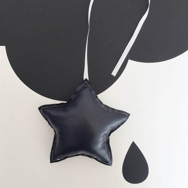 """Leather"" Star Ornament (6 colors)"