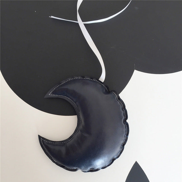 """Leather"" Moon Ornament (3 colors)"
