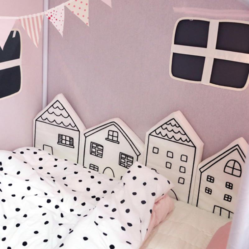 Scandinavian Village Bumper Cushions - 4 PCS Set