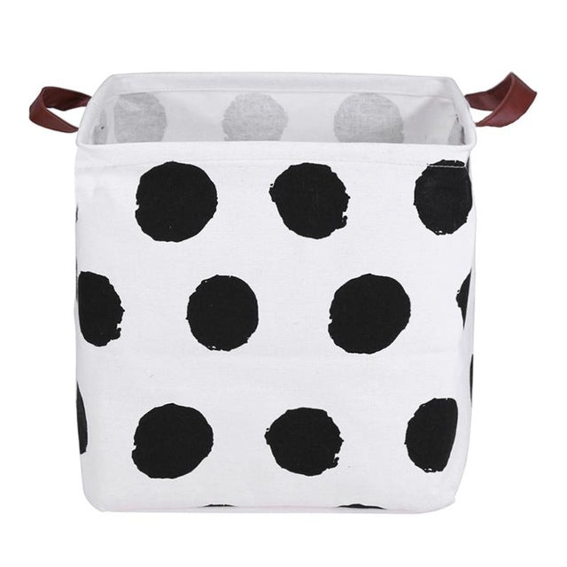 Polka Dots Square Storage Bin