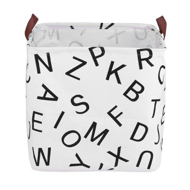 Alphabet Square Storage Bin