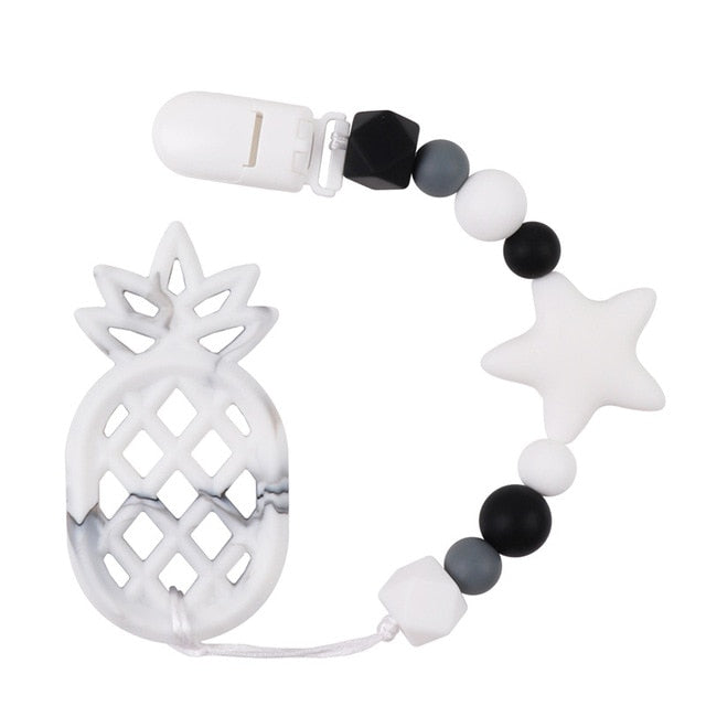 "Modern ""Ananas"" Teething  Toy & Clip"
