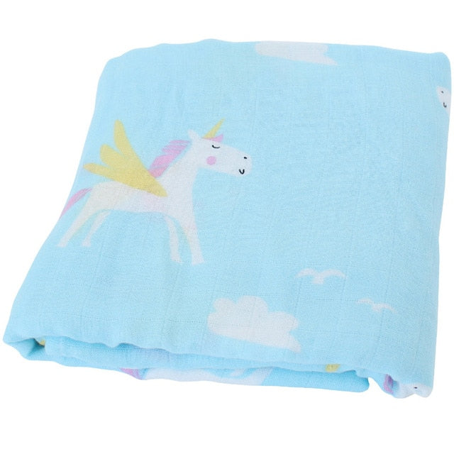 Unicorns & Rainbows Bamboo Swaddle Blanket