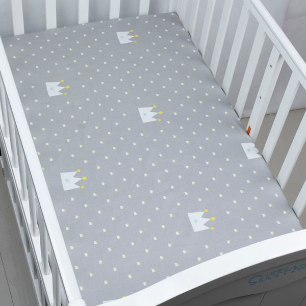 Nordic Crown Crib & Toddler Bed Fitted Sheet