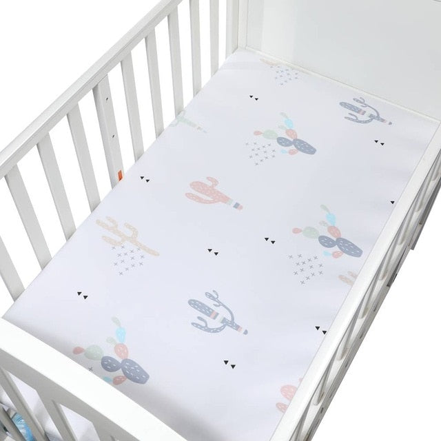 Pink Cactus Crib & Toddler Bed Fitted Sheet